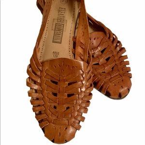 The Leather Collection Huarache brown sandals!